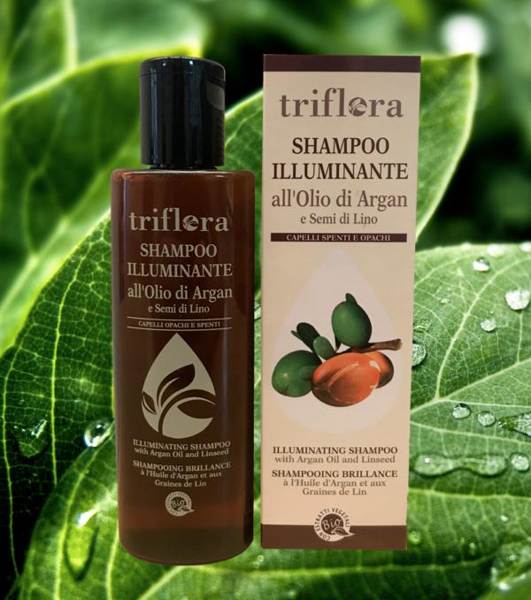 Shampo-illuminante-all'olio-di-argan-e-semi-di-lino-vegetale-naturale-ecologica-biologica-triflora-srl